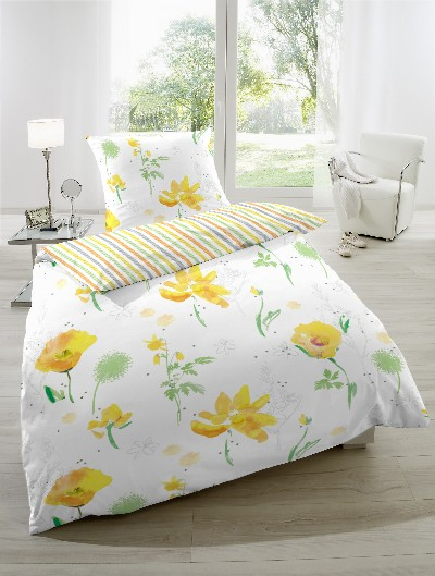 wende bettw sche seersucker streifen blumen logo gmbh natur shop24. Black Bedroom Furniture Sets. Home Design Ideas